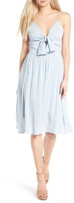 Women's Leith Tie Front Dress $72 thestylecure.com
