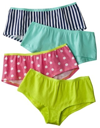 Fruit of the Loom Fashion Cotton Boy Short 4 Pack - Assorted Patterns/Colors