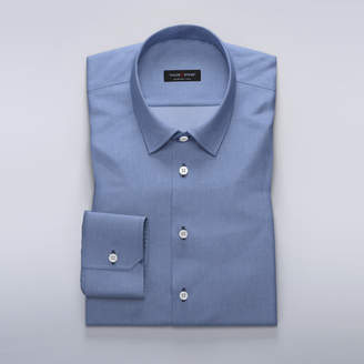 Business shirt in blue dobby