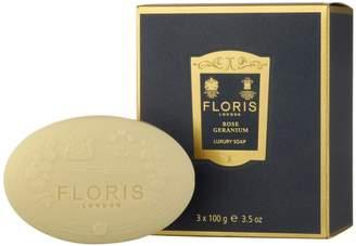 Floris Rose Geranium Luxury Soap Set (100 G)
