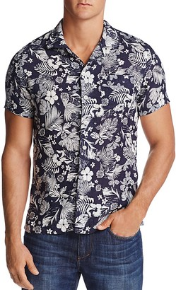 Todd Snyder Convertible Floral Print Regular Fit Button-Down Shirt $148 thestylecure.com