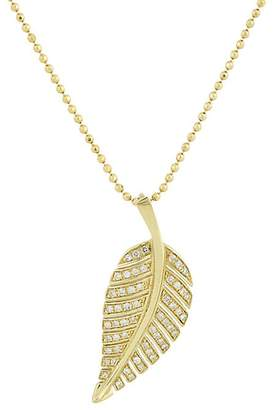 Jennifer Meyer Women's Pavé Leaf Pendant Necklace