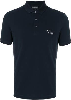 Emporio Armani appliquéd polo shirt