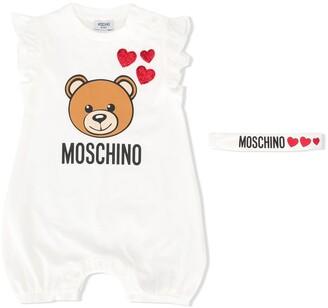 Moschino Kids Teddy logo shortie set
