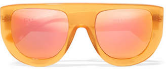 Ines Ii D-frame Acetate Mirrored Sunglasses - Orange