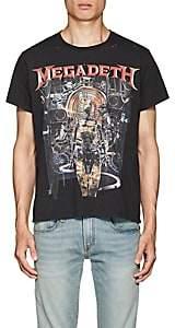 R 13 Men's Megadeth Distressed Cotton T-Shirt - Black