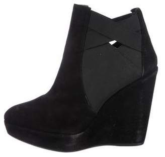 Stuart Weitzman Suede Wedge Ankle Boots