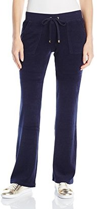 Juicy Couture Black Label Women's Bling Bootcut Terry Pant $118 thestylecure.com