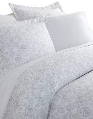 Blissful Bedding Premium Ultra Soft Three-Piece Coarse Paisley Print Duvet Cover Set