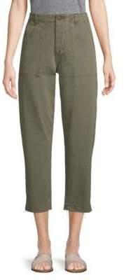Joe's Jeans High-Rise Straight-Leg Cropped Pants