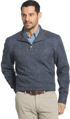 Arrow Big & Tall Classic-Fit Herringbone Mockneck Fleece Sweater
