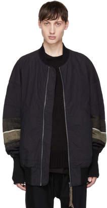 Ziggy Chen Black Long Bomber Jacket