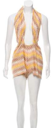Missoni Patterned Suspender Romper