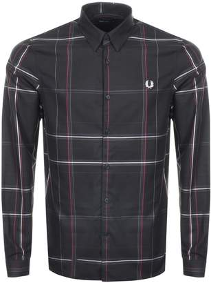 Fred Perry Enlarged Check Shirt Black