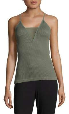 Free People Mesh-Accented Ribbed Camisole