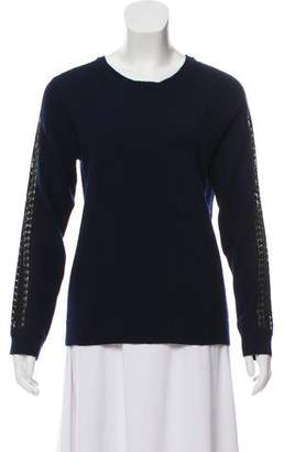 The Kooples Embroidered Knit Sweater