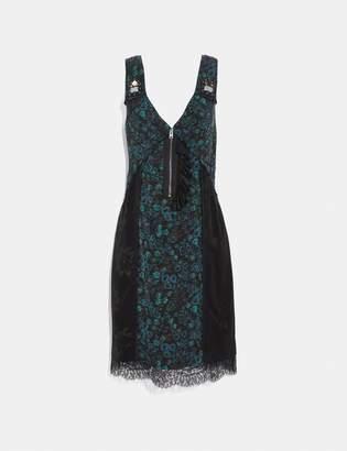 Coach Retro Floral Print Slip Dress