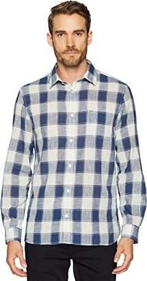 Calvin Klein Jeans Men's Long Sleeve Button Down Shirt Check Gauze