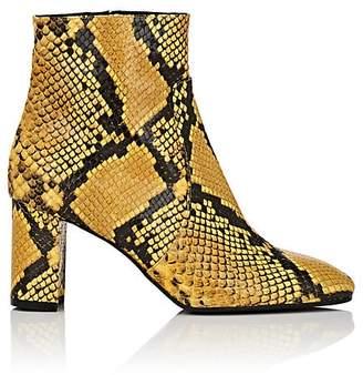 Barneys New York Women's Square-Toe Snakeskin Ankle Boots