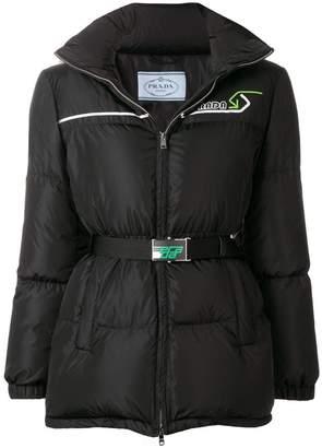 Prada padded belted jacket