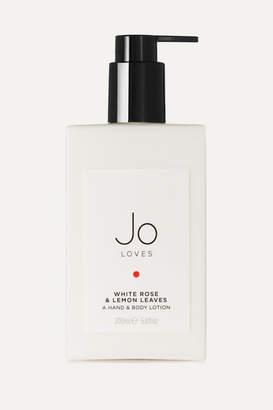 Jo Loves - White Rose & Lemon Leaves Hand & Body Lotion, 200ml - Colorless