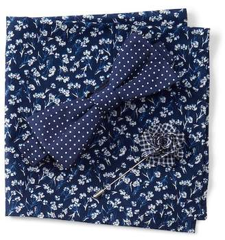 Original Penguin Cooper Dot Bow Tie, Pocket Square, & Lapel Pin Set