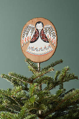 Mir Dinara Woodcut Angel Tree Topper
