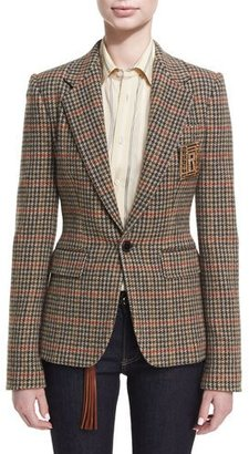 Ralph Lauren Collection Haden Houndstooth Plaid Blazer $1,990 thestylecure.com