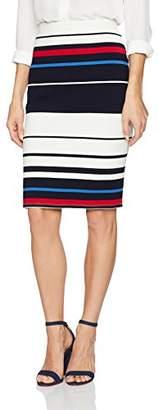 Adrianna Papell Women's Multi Color Stripe Ottoman Knit