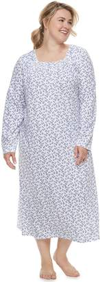 Croft & Barrow Plus Size Long Pintuck Nightgown