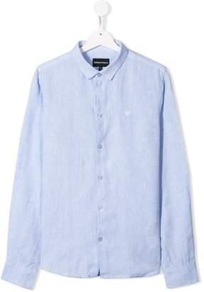 Emporio Armani Kids TEEN long-sleeve linen shirt
