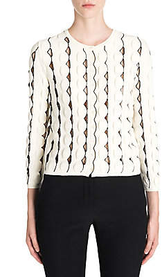 Alexander McQueen Women's Crewneck Scalloped Cardigan