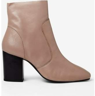 Dorothy Perkins Womens Nude Putty 'Abstract' Leather Ankle Boots