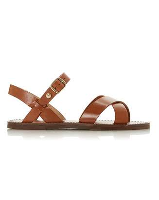 31580cd0f4b7 Dune Wide Fit Laila Leather Sandal Wide Fit