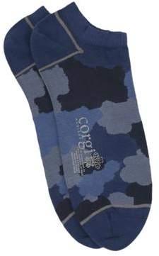 Corgi Camo Low Socks in Navy