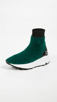 D.A.T.E Dafne Fur Sneakers