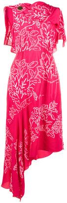 Grecian laurel leaf embroidered dress