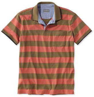 L.L. Bean L.L.Bean Men's Signature Pocket Polo, Short-Sleeve Stripe