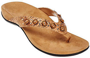 Vionic w/ Orthaheel Embellished Thong Sandals -Floriana