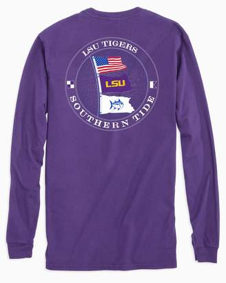 Southern Tide Gameday Nautical Flags Long Sleeve T-shirt - Louisiana State University