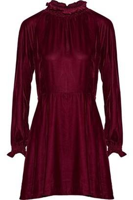 Maje Rilea Velvet Mini Dress