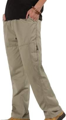 maweisongMen maweisong Men's Casual Full Elastic Waist Lightweight Workwear Pull On Cargo Pants XXL