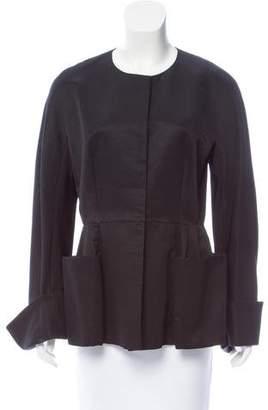 Emilio Pucci Woven Scoop Neck Jacket