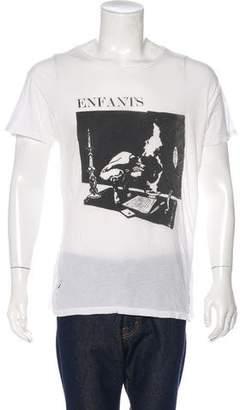 Enfants Riches Deprimes Distressed Graphic Print T-Shirt