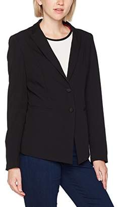 Sisley Women's Jacket with Button Closure Black 100, (Size: 48)