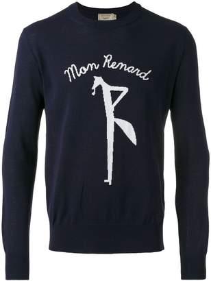 MAISON KITSUNÉ 'mon renard' pattern jumper