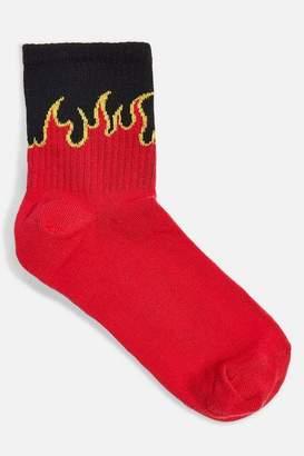 Topshop Womens Flame Tube Socks