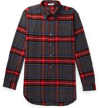 Engineered Garments Button-Down Collar Checked Brushed Cotton-Flannel Shirt