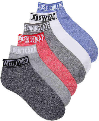 Mix No. 6 Sassy Sport No Show Socks - 6 Pack - Women's