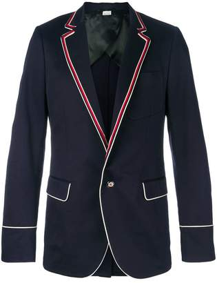 Gucci contrast piping blazer